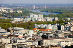 Warsaw Cityscape Royalty Free Stock Images