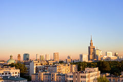 Warsaw Cityscape Royalty Free Stock Image
