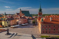 Warsaw. Cityscape image of Old Town Warsaw, Poland during sunny day Stock Photography