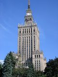 Warsaw culture palace. This is the highest building in Warsaw. A present of Josef Stalin to the polish folk in 1950s Stock Photo