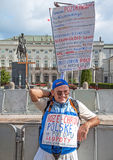 Warsaw Demonstration Central Square Royalty Free Stock Photography