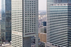 Warsaw downtown - aerial photo of modern skyscrapers Stock Image