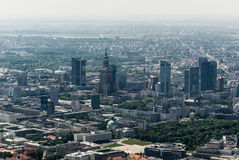 Warsaw downtown aerial view Stock Image