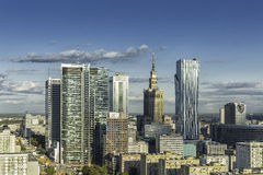 Warsaw downtown aerial view. Poland stock photo