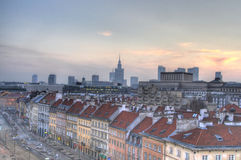 Warsaw downtown panorama Stock Images