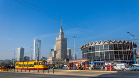 Warsaw downtown Royalty Free Stock Photography