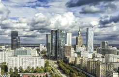 Warsaw downtown Stock Photo