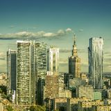 Warsaw downtown. On sunny day stock photography