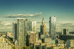 Warsaw downtown Stock Image