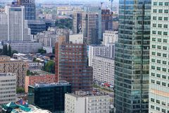 Warsaw Downtown Urban Landscape, Poland Royalty Free Stock Images
