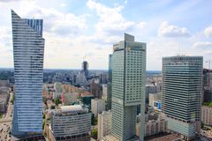 Warsaw Downtown Urban Panorama Stock Photography