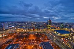 Warsaw downtown view Stock Photography