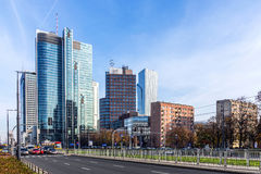 Warsaw downtown Royalty Free Stock Photos