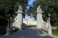 Warsaw. Entrance to the Wilanow garden Stock Image