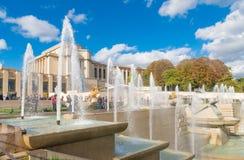Warsaw fountain paris Stock Image