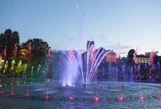 Warsaw Fountain Park Stock Photography