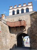 Warsaw Gate, Opatow, Poland. The Warsaw Gate and a fragment of old city walls, Opatow, Poland Stock Image