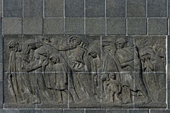 Jewish Warsaw, Monument to the Ghetto Heroes  Stock Photos