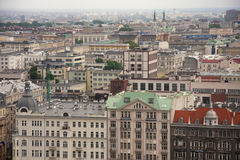 Warsaw Jerozolimskie Street view Royalty Free Stock Image