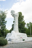WARSAW - June 6 2017 - The Monument to the Battle of Monte Cassino placed in Warsaw. Royalty Free Stock Image