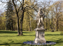 Warsaw.Lazienki(Bath)Royal Park.Sculpture dawn. Poland.Warsaw.Sculpture 'Dawn in Lazienki9Bath)Royal Park.In the southern part there is a marble sculpture Baths Royalty Free Stock Photos