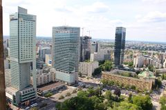 Warsaw living - residential towers royalty free stock image