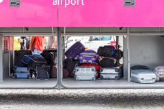 Warsaw. Luggage in the luggage compartment of the Stock Images