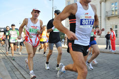 Warsaw Marathon Stock Photos