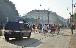 Warsaw Marathon. Runners participating in the 31st Warsaw Marathon Stock Image
