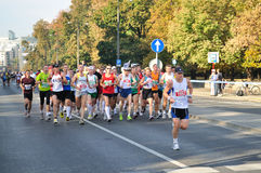 Warsaw Marathon. Runners participating in the 31st Warsaw Marathon Stock Photography