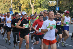 Warsaw Marathon. Runners participating in the 31st Warsaw Marathon Stock Photos