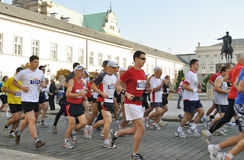 Warsaw Marathon. Runners participating in the 31st Warsaw Marathon Stock Images