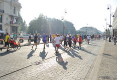 Warsaw Marathon. Runners participating in the 31st Warsaw Marathon Stock Photo