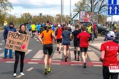 Warsaw Marathon 2016 Stock Images