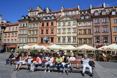 Warsaw market square Royalty Free Stock Image