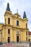 Warsaw, Poland - The Franciscans Friars catholic church of St. Francis Seraphic Stigmata at Zakroczynska street in the historic royalty free stock photo