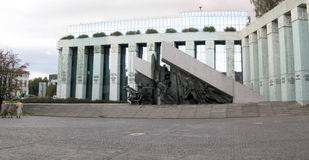Warsaw. Memorial to the Warsaw Uprising Fighters in Warsaw, Poland stock image