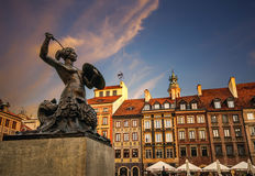 Warsaw Mermaid Stock Images