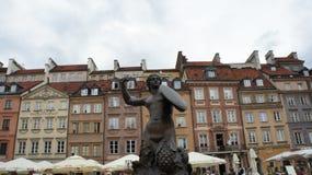 Warsaw Mermaid Statue. The Mermaid Statue In Warsaw stock images