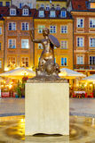 Warsaw. Mermaid symbol of the city Stock Images