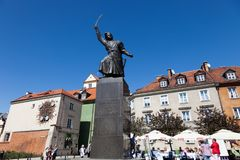 Warsaw. Monument to Jan Kilinitsky royalty free stock images