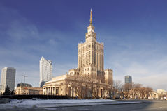 Warsaw most famous landmark - Palace of Culture and Science Royalty Free Stock Photography