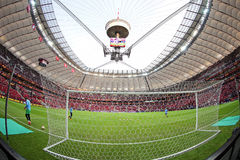 Warsaw National Stadium (Stadion Narodowy). WARSAW, POLAND - MAY 27, 2015: Warsaw National Stadium (Stadion Narodowy) before UEFA Europa League Final game Stock Photos