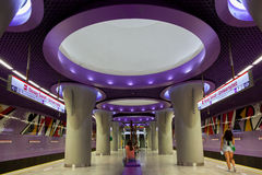 Warsaw new underground station Royalty Free Stock Image