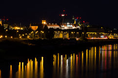 Warsaw by night Royalty Free Stock Image