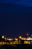Warsaw by night Royalty Free Stock Photos