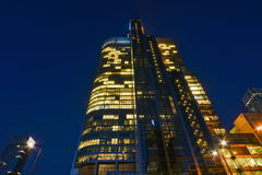 Warsaw night view Royalty Free Stock Images