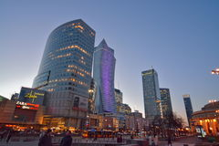 Warsaw night view Stock Images