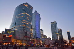 Warsaw night view Stock Photography