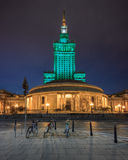 Warsaw by night Royalty Free Stock Images